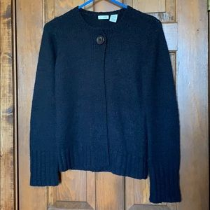 Anthropologie Odille Navy Blue One-Button Cardigan